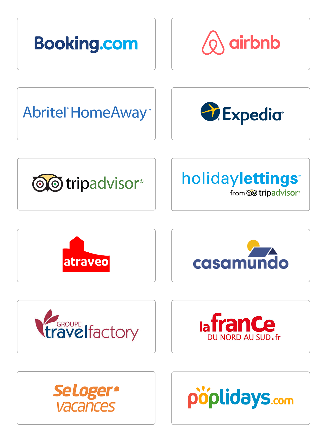 Logos partenaires commercialisation